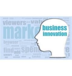 Business innovation head profile icon vector