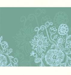 floral blue vector image