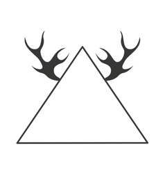 Emblem with horns isolated icon design vector