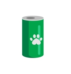 Bottle of food for pets icon vector