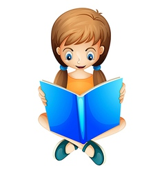 A young lady reading vector image