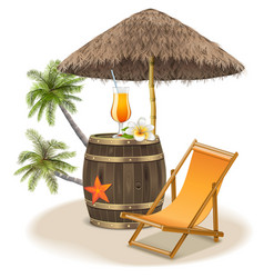 Beach Bar Concept vector image vector image