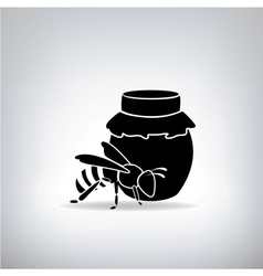 Black bees and honey vector image