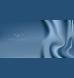 Blue textile drapery horizontal background with vector