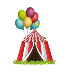 Circus tent entertainment icon vector