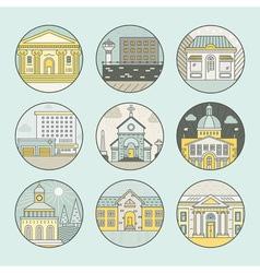 City architecture emblems vector