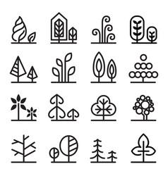 cute tree icon vector image