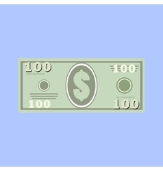 Dollars money banknote vector