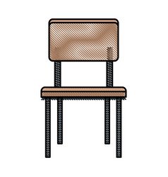 Drawing chair seat furniture wooden vector