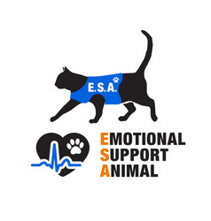 Emotional support animal emblems vector