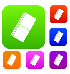 eraser set color collection vector image