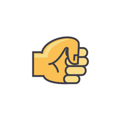 fist hand concept line icon editable vector image