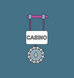 Flat icon design collection casino street banner vector