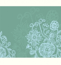 floral blue vector image