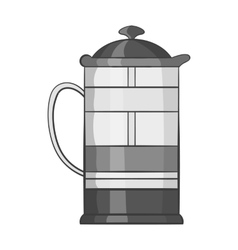 French press coffee maker icon vector image vector image