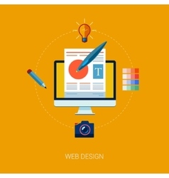 Graphic web and user interface design concept vector image