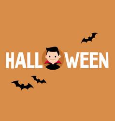 halloween conceptual sign dracula and black vector image
