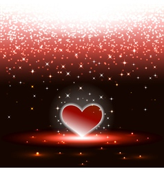 Heart with sparkles rain vector image