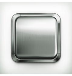 Metal button detailed icon vector