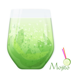 Mojito fresh cocktail vector