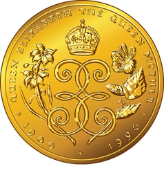 Money gold coin Dollar Bermuda vector image