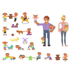 parents and children vector image vector image