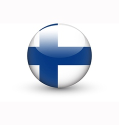 Round icon with national flag of Finland vector image