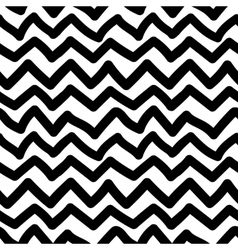 Seamless pattern with handdrawn zigzag lines vector