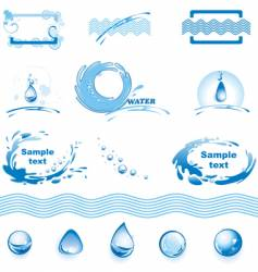 set of water design elements vector image vector image