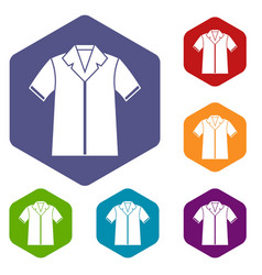 shirt polo icons set vector image