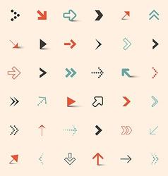 Simple Arrows Set vector image vector image