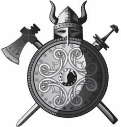 Vikings icon vector image