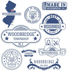 Woodbridge new jersey stamsp and seals vector