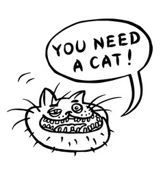 You need a cat cartoon cat head vector