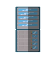 Computer server data isolated icon vector