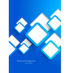 Background with blue squares vector