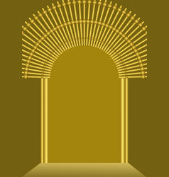 Golden gate background with blank place for own vector