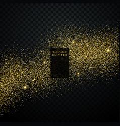 gold glitter background star dust shiny sparkles vector image