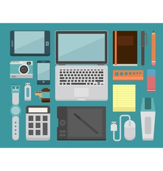 Office workplace essential vector