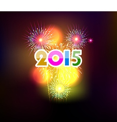 Happy new year 2015 with fireworks background vector
