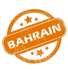Bahrain grunge icon vector