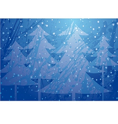 Christmas trees splatter background vector