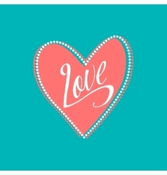 Wedding card with love sign on turquoise vector