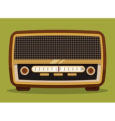 Radio vintage design vector