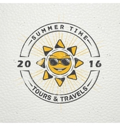 Summer time tourist agency travel around the vector