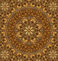 Golden floral ornament background vector