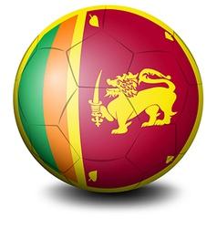 A soccer ball with the flag of Sri Lanka vector image vector image