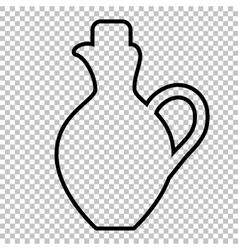 Amphora sign line icon vector