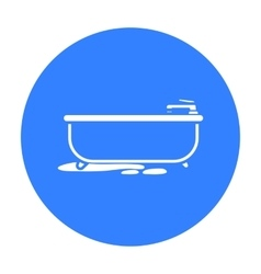 Bathtub icon in black style isolated on white vector image vector image