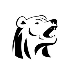 Bear head tattoo vector image